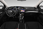 Stock photo of straight dashboard view of 2016 Honda Civic Tourer Executive 5 Door Wagon Dashboard