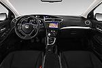 Stock photo of straight dashboard view of 2016 Honda Civic Tourer Executive 5 Door Wagon Dashboard