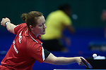 Glasgow 2014 Commonwealth Games<br /> Naomi Owen (wales) in action against Anolyn Lulu from (Vanuatu).<br /> Scotstoun Table Tennis<br /> <br /> 25.07.14<br /> &copy;Steve Pope-SPORTINGWALES