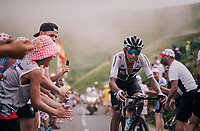 Egan Bernal Gomez (COL/SKY) up the last climb of the 2018 Tour: the Col d'Aubisque (HC/1709m/16.6km@4.9%)<br /> <br /> Stage 19: Lourdes > Laruns (200km)<br /> <br /> 105th Tour de France 2018<br /> ©kramon