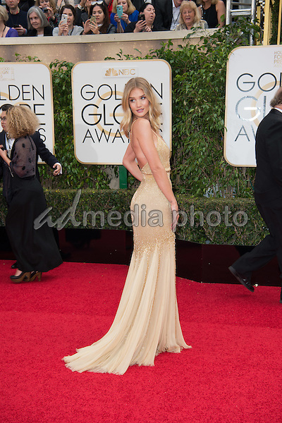 Actress Rosie Huntington-Whiteley attends the 73rd Annual Golden Globes Awards at the Beverly Hilton in Beverly Hills, CA on Sunday, January 10, 2016. Photo Credit: HFPA/AdMedia