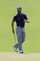 Adam Hadwin (CAN) at the 13th green during Thursday's Round 1 of the 2017 PGA Championship held at Quail Hollow Golf Club, Charlotte, North Carolina, USA. 10th August 2017.<br /> Picture: Eoin Clarke | Golffile<br /> <br /> <br /> All photos usage must carry mandatory copyright credit (&copy; Golffile | Eoin Clarke)