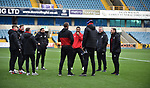 Sheffield United Manager Chris Wilder and players before the start of the championship match at The Den Stadium, Millwall. Picture date 2nd December 2017. Picture credit should read: Robin Parker/Sportimage