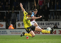 Burnley's Chris Wood gets a shot on goak<br /> <br /> Photographer Mick Walker/CameraSport<br /> <br /> The Carabao Cup Round Three   - Burton Albion  v Burnley - Tuesday  25 September 2018 - Pirelli Stadium - Buron On Trent<br /> <br /> World Copyright © 2018 CameraSport. All rights reserved. 43 Linden Ave. Countesthorpe. Leicester. England. LE8 5PG - Tel: +44 (0) 116 277 4147 - admin@camerasport.com - www.camerasport.com