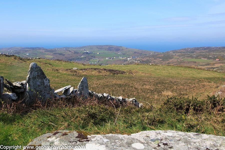 Landscape  view over farmland, Cape Clear Island, County Cork, Ireland, Irish Republic
