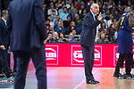 Real Madrid coach Pablo Laso during Turkish Airlines Euroleague match between Real Madrid and FC Barcelona Lassa at Wizink Center in Madrid, Spain. December 14, 2017. (ALTERPHOTOS/Borja B.Hojas)