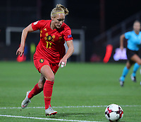 20191008 CLUJ NAPOCA:Belgium's Janice Cayman (11) is pictured at the match between Belgium Women's National Team and Romania Women's National Team as part of EURO 2021 Qualifiers on 8th of October 2019 at CFR Stadium, Cluj Napoca, Romania. PHOTO SPORTPIX | SEVIL OKTEM