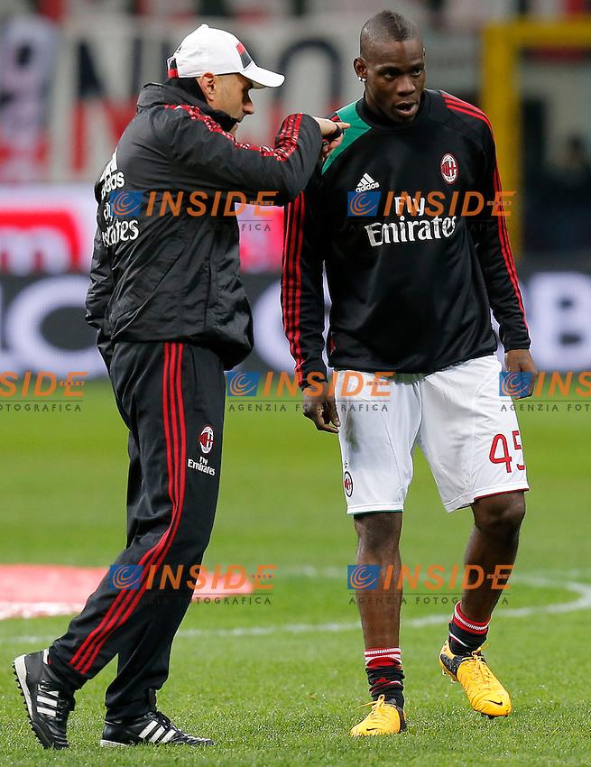 "Mario Balotelli Milan, Milano 3/2/2013 .Stadio ""S.Siro"".Football Calcio 2012/2013 Serie A.Milan Vs Udinese.Foto Marco Bertorello Insidefoto"