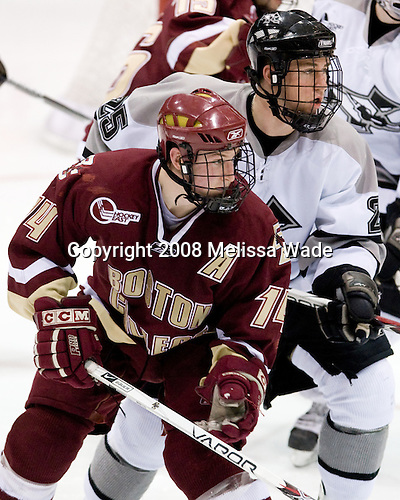 Matt Greene (BC 14), Matt Germain (Providence 25) - The Boston College Eagles and Providence Friars played to a 2-2 tie on Saturday, March 1, 2008 at Schneider Arena in Providence, Rhode Island.