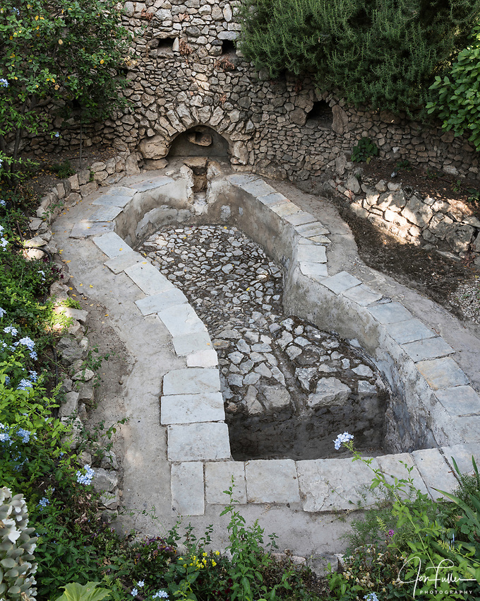 An ancient wine press on the Gounds of the Garden Tomb in Jerusalem, just north of the Damascus Gate.
