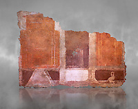Roman fresco wall decorations of  Room E9, Rome. Museo Nazionale Romano, 130-140AD( National Roman Museum), Rome, Italy.
