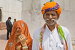 Punjabi man and wife, Red Fort, Old Delhi