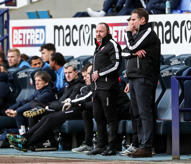 Bolton Wanderers' manager Phil Parkinson <br /> <br /> Photographer Andrew Kearns/CameraSport<br /> <br /> The EFL Sky Bet Championship - Bolton Wanderers v Preston North End - Saturday 9th February 2019 - University of Bolton Stadium - Bolton<br /> <br /> World Copyright © 2019 CameraSport. All rights reserved. 43 Linden Ave. Countesthorpe. Leicester. England. LE8 5PG - Tel: +44 (0) 116 277 4147 - admin@camerasport.com - www.camerasport.com