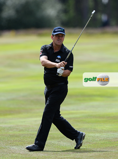 Malcolm Mackenzie of England in action during the First Round of The Senior Open at Sunningdale Golf Club, Sunningdale, England. Picture: Golffile | Richard Martin-Roberts<br /> All photo usage must carry mandatory copyright credit (&copy; Golffile | Richard Martin- Roberts)