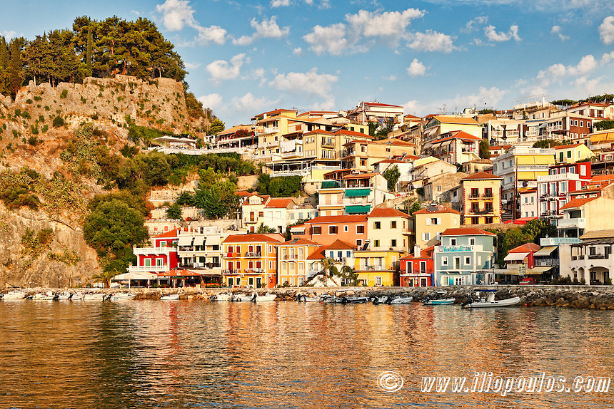 The colorful houses of Parga, Greece