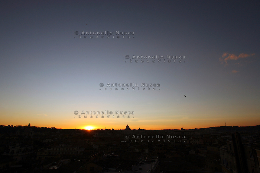 Sunset in Rome. Tramonto a Roma