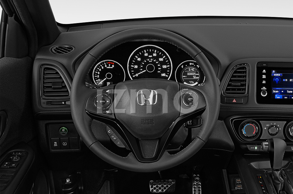 Car pictures of steering wheel view of a 2019 Honda HR-V Sport 5 Door SUV