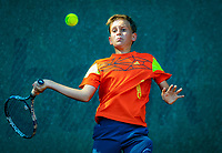 Hilversum, Netherlands, August 6, 2018, National Junior Championships, NJK, Lewie Bouman (NED)<br /> Photo: Tennisimages/Henk Koster