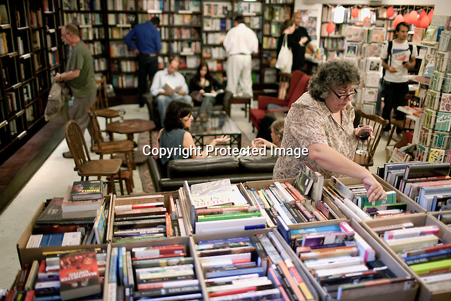 CAPE TOWN, SOUTH AFRICA - MARCH 22: Visitors at the Book Lounge on March 22, 2012 in Cape Town, South Africa (Photo by Per-Anders Pettersson For Le Monde)