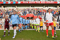 Chicago, IL - Sunday Sept. 04, 2016: Alyssa Naeher, Haley Kopmeyer prior to a regular season National Women's Soccer League (NWSL) match between the Chicago Red Stars and Seattle Reign FC at Toyota Park.