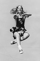 Rogers High School Cheerleader Wendy Burkeen 1975-1976.