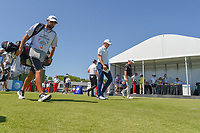 Jordan Spieth (USA) and Graeme McDowell (NIR) make their way down 10 during round 1 of the AT&amp;T Byron Nelson, Trinity Forest Golf Club, at Dallas, Texas, USA. 5/17/2018.<br /> Picture: Golffile | Ken Murray<br /> <br /> <br /> All photo usage must carry mandatory copyright credit (&copy; Golffile | Ken Murray)