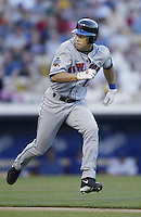 Roberto Alomar of the New York Mets runs the bases during a 2002 MLB season game against the Los Angeles Dodgers at Dodger Stadium, in Los Angeles, California. (Larry Goren/Four Seam Images)