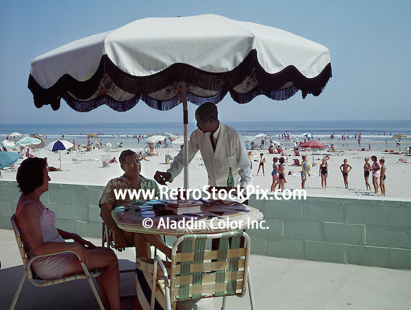 Beach Waves Motel, Wildwood, NJ.  1950's Patio Service