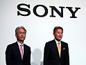 May 23, 2017, Tokyo, Japan - Japan's electronics giant Sony president Kazuo Hirai (R) and CFO Kenichiro Yoshida announce the company's business strategy at Sony headquarters in Tokyo on Tuesday, May 23, 2017. Sony aims at operating profit will be 500 billion yen and ROE 10 percent this year.   (Photo by Yoshio Tsunoda/AFLO) LwX -ytd-