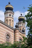 HUN, Ungarn, Budapest, Stadtteil Pest, Zentrum: Grosse Synagoge, zweitgroesste Synagoge der Welt | HUN, Hungary, Budapest, Pest District, centre: Great Synagogue, second largest synagogue of the world