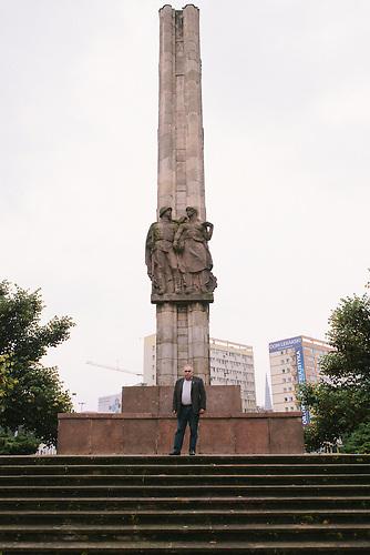 Mieczysław Jurek ist ein früherer Solidarność-Aktivist und setzt sich für den Abbau des Sowjetischen Ehrenmals in Stettin ein.