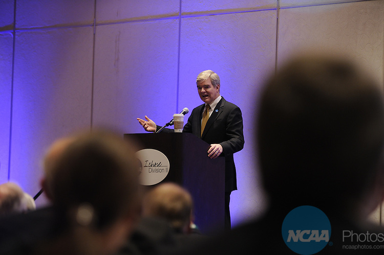 14 JAN 2011: The Division II Chancellors and Presidents Luncheon at the 2011 NCAA Convention held at the Grand Hyatt and Convention Center in San Antonio, TX. Stephen Nowland/NCAA Photos .Pictured: Mark Emmert