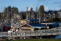 Marina for charter boats at Ucluelet .Vancouver island, British Colombia, Canada.
