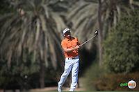 Soren Kjeldsen (DEN) during the Final Round of the 2016 Omega Dubai Desert Classic, played on the Emirates Golf Club, Dubai, United Arab Emirates.  07/02/2016. Picture: Golffile | David Lloyd<br /> <br /> All photos usage must carry mandatory copyright credit (&copy; Golffile | David Lloyd)