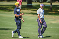 Rafael Cabrera Bello (ESP) and Sergio Garcia (ESP) chat as they head down 2 during round 4 of the World Golf Championships, Mexico, Club De Golf Chapultepec, Mexico City, Mexico. 3/4/2018.<br /> Picture: Golffile | Ken Murray<br /> <br /> <br /> All photo usage must carry mandatory copyright credit (&copy; Golffile | Ken Murray)