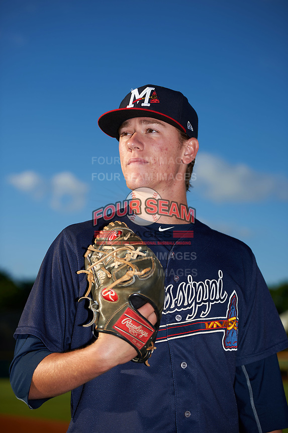Mississippi Braves pitcher Kolby Allard (20) poses for a photo before a game against the Montgomery Biscuits on April 24, 2017 at Montgomery Riverwalk Stadium in Montgomery, Alabama.  Montgomery defeated Mississippi 3-2.  (Mike Janes/Four Seam Images)