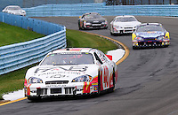 Aug. 8, 2009; Watkins Glen, NY, USA; NASCAR Nationwide Series driver Jeffrey Earnhardt (40) during the Zippo 200 at Watkins Glen International. Mandatory Credit: Mark J. Rebilas-