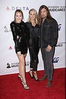 08 February 2019 - Westwood, California - Tish Cyrus, Billy Ray Cyrus, Miley Cyrus. MusiCares Person Of The Year Honoring Dolly Parton held at Los Angeles Convention Center. <br /> CAP/ADM/PMA<br /> &copy;PMA/ADM/Capital Pictures