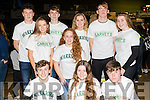 Don't Foul<br /> --------------<br /> Attending the Garvey's Tralee Warriors basketball match were front L-R Sean Gannon, Lucy O'Sullivan&amp;Dylan O'Shea, back L-R Ian McCarthy, Rheia McElligott, Donnagh McMahon, Deirdre O'Halloran, Sadbh Griffin, Taghd Hurley with Laurie Fusco, all transition students from Mounthawk secondary school.
