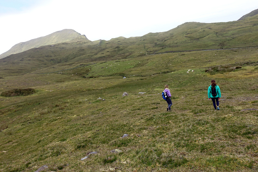 Hiking on Clare Island, Clew Bay, County Mayo, Ireland.