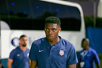 GEORGETOWN, GRAND CAYMAN, CAYMAN ISLANDS - NOVEMBER 19: Sean Johnson #23 of the United States walks to the USMNT locker room during a game between Cuba and USMNT at Truman Bodden Sports Complex on November 19, 2019 in Georgetown, Grand Cayman.