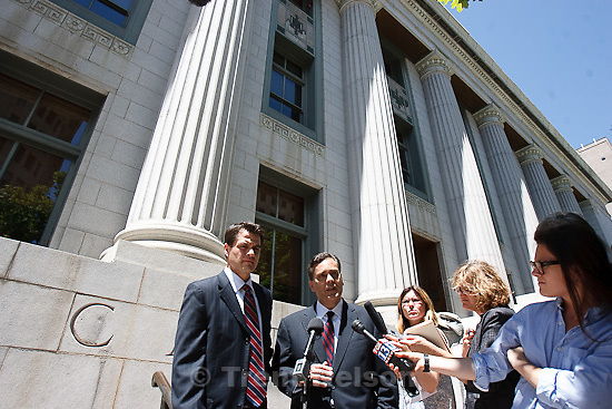 Trent Nelson  |  The Salt Lake Tribune.Attorney Jonathan Turley answers questions on the steps of the U.S. District Court about his filing challenging Utah's law against polygamy on behalf of the Kody Brown family, in Salt Lake City, Utah, Wednesday, July 13, 2011