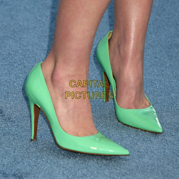 CHRISTINA RICCI .2007 Film Independent's Spirit Awards at the Santa Monica Pier, Santa Monica, California, USA,.24 February 2007..feet green stilettoes shoes detail close-up.CAP/ADM/BP.©Byron Purvis/AdMedia/Capital Pictures.