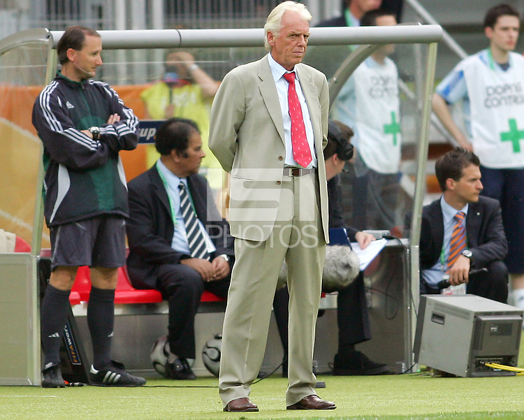 Trinidad coach Leo Beenhakker after the game. England defeated Trinidad & Tobago 2-0 in their FIFA World Cup group B match at Franken-Stadion, Nuremberg, Germany, June 15 2006.