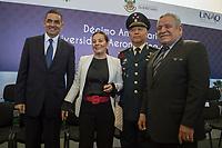 Querétaro, Qro. 23 de noviembre 2017.- Llevan a cabo la ceremonia del 10º aniversario de la Universidad Aeronáutica en Querétaro, encabezado por el gobernador del estado, Francisco Domínguez Servién.