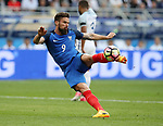 France's Olivier Giroud fires in a shot during the Friendly match at Stade De France Stadium, Paris Picture date 13th June 2017. Picture credit should read: David Klein/Sportimage