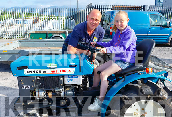 Clodagh and Tim Hoare at the Lawnmower run in Killorglin on Friday evening