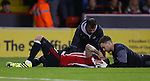 Kieron Freeman of Sheffield Utd gets checked out during the League One match at Bramall Lane Stadium, Sheffield. Picture date: September 27th, 2016. Pic Simon Bellis/Sportimage