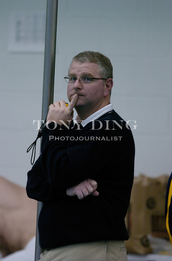 Michigan head coach Bob Bowman during the Wolverines' win over Northwestern on Friday, January 21, 2005 at Canham Natatorium in Ann Arbor, Mich. (Photo by TONY DING/The Michigan Daily)