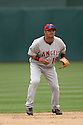 Oralando Cabrera, of the Los Angeles Angels , during their game against the Oakland A's  on April 23, 2006 in Oakland...A's win 4-3..Rob Holt / SportPics